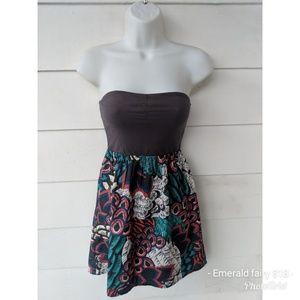 Roxy Strapless Sun Dress, Size XS